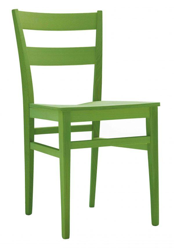 Sedia in legno moderna e sedile disponibile in vari materiali e finiture